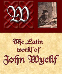 The Latin Work of John Wyclif