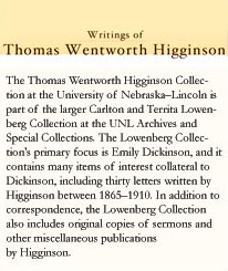 Writings of Thomas Wentworth Higginson